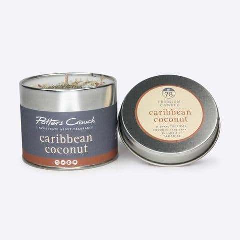 Caribbean Coconut Scented Candle In A Tin